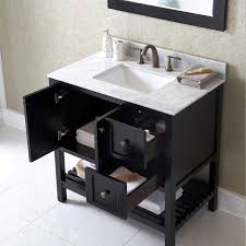 36 Bathroom Vanity by Virtu Usa 36 Inch Winterfell Square Sink Vanity In Espresso