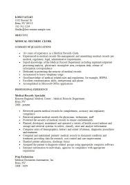 Scanning Clerk Resume Luxury Ideas Medical Records Clerk Resume 15 Medical Records Clerk