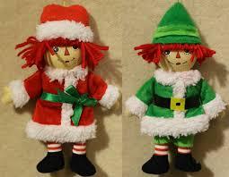 raggedy raggedy andy mini doll plush ornaments