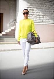 Louis Vuitton Clothes For Women Yellow Sweater White Pants Coral Heels Louis Vuitton Handbag