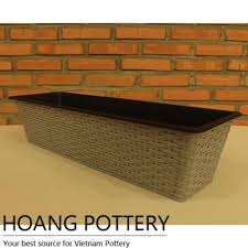 long wicker planter archives hoang pottery your best source