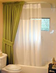 Extra Wide Curtain Rods Looking Extra Wide Shower Curtain In Bathroom Traditional With