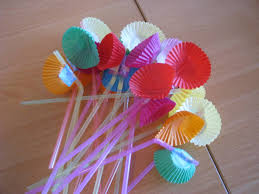 Making Of Flowers With Paper - straw flowers learning 4 kids
