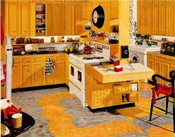 appealing plan design light yellow wooden color retro kitchen