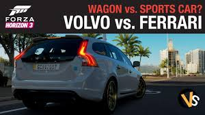 volvo sports cars wagon vs sports car volvo v60 vs ferrari f355 forza horizon 3