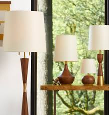 mid century wooden floor lamp rejuvenation