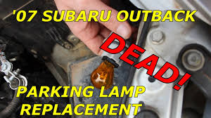 red subaru outback 2005 how to replace front parking bulb on a 2007 subaru outback youtube