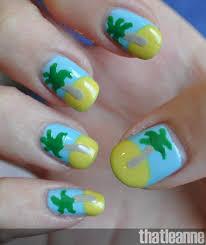 thatleanne tropical island summer nails for australia day