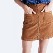 corduroy skirts corduroy zip mini skirt mini madewell