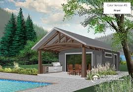 Indoor Pool House Plans W1911 Pool House Plan Or Cabana House Plan Shower Room Outdoor