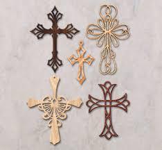 scroll saw wall ornamental wall crosses pattern set