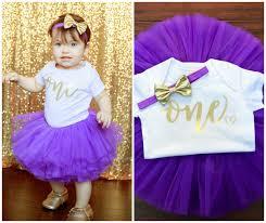 1st birthday tutu girl 1st birthday purple gold tutu girl birthday