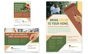 painter u0026 painting contractor flyer u0026 ad template word u0026 publisher