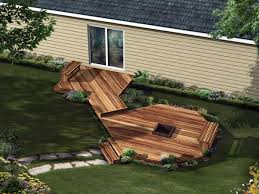 Firepit Plans Deck With Pit Plans Deck Design And Ideas