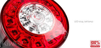 4 inch round led tail lights lights motorcycle led round tail light brake light universal fit