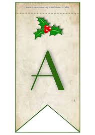 bunting flag with letter a free printable papercraft templates