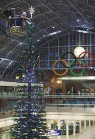 largest lego christmas tree erected at london st pancras pictures