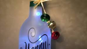 Wine Bottles With Lights Holiday Themed Bottles With Lights On Etsy How To Make A Bottle Lamp