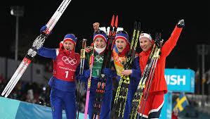 bjoergen wins historic 13th medal as norway win women u0027s 4 x 5km