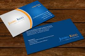 What To Charge For Business Card Design Masculine Conservative Business Card Design For Junko Kido By