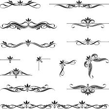 ornaments calligraphy vintage vectors 02 vector ornament free