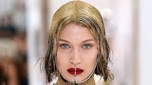 gold hair hadid s gold hair during fashion week