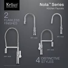style kitchen faucets kpf 1650ss nola single lever commercial style kitchen faucet in