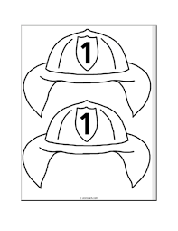 fireman hat coloring page funycoloring