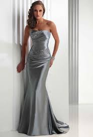 silver wedding dresses vintage strapless satin silver wedding dresses with lace up back