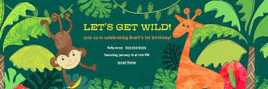 jungle safari party evite