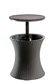 keter pacific rattan style outdoor cool bar ice cooler table
