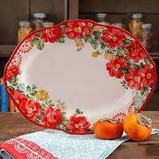 halloween platters the pioneer woman vintage floral 14 5