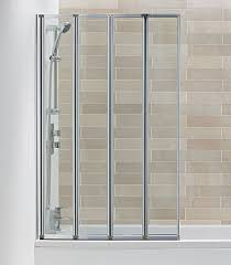 hydro 4 panel folding bath screen bathrooms at bathshop321