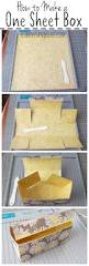 how to make a one sheet gift box scrapbook paper scrapbook and