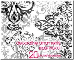 21 decorative free photoshop brushes you can use to create your
