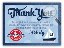 nautical thank you cards ahoy it s a boy nautical baby shower thank you card di 4500ty