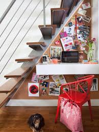how to make use of space under stairs under the stairs studydesk