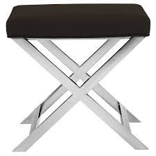 city furniture campion black upholstered stool