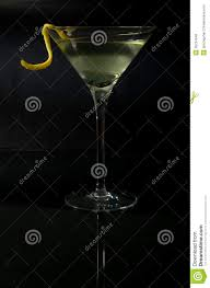 martini twist martini with a twist on black stock image image 38734049