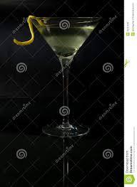 martini twist martini with a twist on black stock image image 38734049