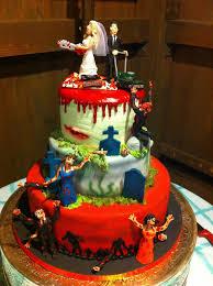 funny wedding cakes zombie