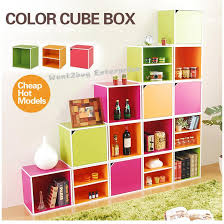 Colorful Bookcases High Quality Colorful Creative Design Storage Cabinet Cube