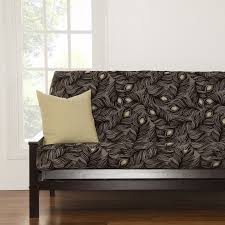 Patterned Futon Covers Plush Plumes Full Size Peacock Feather Patterned Futon Cover