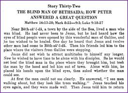Blind Bartimaeus In The Bible Bartimaeus And Peter U0027s Reply You Are The Christ Stories Kids