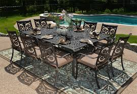 Outdoor Aluminum Patio Furniture The Herve Collection 10 Person All Welded Cast Aluminum Patio