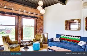 cheerful detroit loft exposed brick included stylish detroit