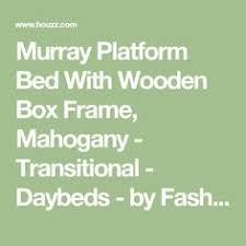 Murray Platform Bed Murray Daybed Mahogany As You Like It The Low Profile