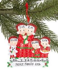 present family of five personalized hanging ornament by treasured