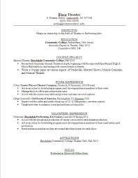 Actor Sample Resume Musical Theatre Resume Examples Beginner Acting Resume Example