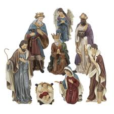amazon com kurt adler resin nativity figurine set 9 inch set of